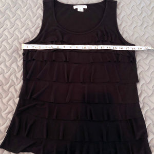 Liz Claiborne Tank Top Black Large